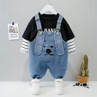 Clothing Sets HYLKIDHUOSE Autumn Baby Girls Boys Cotton T Shirt Cartoon Jeans Kids Sportswear Children Casual Clothes Outfit