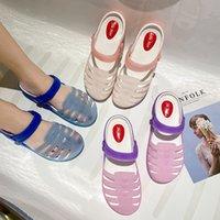 Лучшие моды лето 2021 мужские женские размеры трансграничные сандалии сандалии женщины корейские повседневные милые отверстия туфли модные пляжные тапочки: 30nk-2120