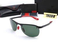 الفاخرة 4302 العلامة التجارية النظارات الشمسية للجنسين نظارات نصف بلا حافة مصمم النظارات للرجال النساء جودة عالية مع مربع WX38