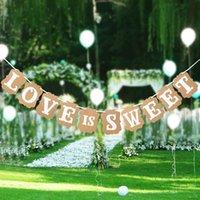 Wedding Banner Photo Prop Bridal Hot Kraft Paper Bunting Banner Party Decoration