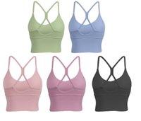 Yoga Luyogasports Sport Bra abiti Bodybuilding All Match Casual Gym Push Up Bras di alta qualità Crop Top Abbigliamento per allenamento per esterno