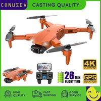 Conusea l900 gps drone 4k com câmera anti-agitação dobrável helicóptero rc quadcopter dron drive motora de motor sem escova drones 210325