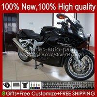 Carénage + couverture de réservoir pour BMW K1200 brillant noir K 1200 S 1200S K1200SS 05 06 07 08 09 10 Bodywork 28NO.23 K-1200S 2005 2006 2006 2009 2009 2010 K1200-S 05-10 Body de moto