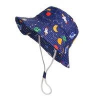 Sombreros de ala ancha impresa Baby Hat Baby Hat Sombrilla para niños Pescador Pescador Playa Sun Playa Sun Sun Flatpy Plano Plano Cap