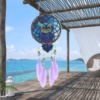 Decorative Objects & Figurines DIY Point Drill Dream Wind Chimes Light Catching Crystal Craft Mosaic Kit Pendant HANGing Gift Home Wall Door