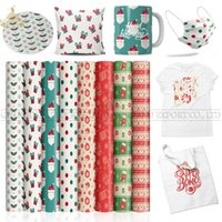 Window Stickers Lucky Goddness 8 Pcs 12*12 IN Christmas Pattern Sublimation Paper Cricut Joy Suitable For Mouse Pad Infusible Transfer Ink V
