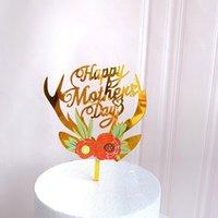 Düğün Pastası Topper Renkli Çiçek Akrilik Kek Topper Doğum Günü Pastası Düğün Sevgililer Günü Anneler Günü Tatlı Dekorasyon ZZE5023
