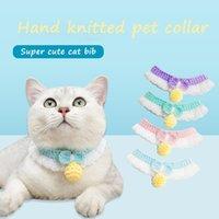 Cat Collars & Leads Super Cute Handmade Wool Knitted Pet Bib Japanese Collar Soft Comfortable Custom Po Props Scarf
