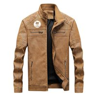 Men's Jackets 2021 Selling Bobcat Brand Jacket Mens Fashion England Style Spring Autumn Solid Color Printed Leather