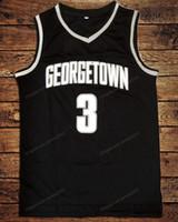 Expédier de l'US Allen Iverson # 3 Georgetown Hoyas Hoyas Jersey Basketball Jersey Toutes la taille noire S-3XL