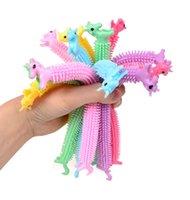 Fidget Brinquedos sensory brinquedo macarrão corda tpr tap stress releiver unicórnio malala le descompressão puxar cordas alívio de ansiedade para crianças engraçadas