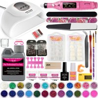 Nail Art Kits Acrylic Powder Kit With LED Lamp Drilling Machine For Manicure Liquid Builder Gel Decoration Glitter