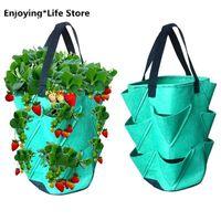 Planters & Pots DIY Planter PE Fabrics Planting Vegetable Gardening Thicken Pot Grow Bag Plastic Container Garden Supplies
