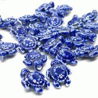 20 adet / grup 18x15mm DIY Seramik Boncuk Takı Yapımı Için Mix Renk Deniz Kaplumbağası Gevşek Seramik Boncuk Jingdezhen Bilezik 1157 T2