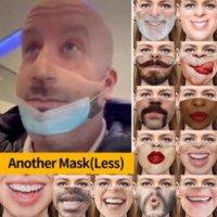 Masques de fête amusantes Réutilisable Protect 3D Tissu Tissu Tissu anti-poussière Vis de la poussière Visage Respirateur Expression Proof coupe-vent Mascarilla Masque G 4 Haze respirant