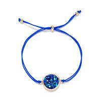 Fashion DRUZY women charm bracelet crystal stone string chain warp BRACELET WOMEN DIY jewelry gift 112 L2