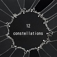 Fashion Necklaces 2021 12 Constellations Letter 925 Sterling Silver Zircon Pendant Chocker Necklace Individual Woman Accesories Chokers