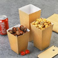 Gift Wrap Kraft Paper Popcorn Boxes Candy Favor Bag Box For Business Christmas Wedding Kids Birthday Baby Shower Party Decor Supply
