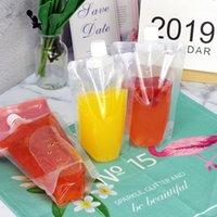 Bolsas de bebidas claras bolsas 200ml - 500ml saco de beber plástico stand-up com suporte para garrafas de água à prova de calor reclosable 1716 v2