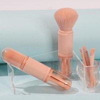 Makeup Brushes 4Pcs Pro Green Brush Set Powder Eyeshadow Blending Eyeliner Eyelash Eyebrow Make Up Beauty Cosmestic
