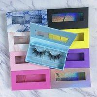 False Eyelashes Wholesale Makeup Mink Boxes With Tray Custom Lashes Box Packaging Logo 25mm Package