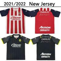 2021 2022 Chivas México Futebol Jerseys 21 22 Liga MX Deportivo Guadalajara E.Lopez A.Vega Macias U.Antuna Camisa de Futebol Homens Uniforme Maillots de Futol