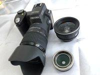 Dijital Kameralar Kamera Len Hood Yükseltme Protax D3000 HD Profesyonel SLR Video 33million Piksel Otomatik Odak 24x Optik Yakınlaştırma Üç
