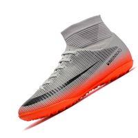 Çocuklar Futbol Ayakkabı Çizmeler Dropshipping Erkekler Futbol Cleats Yüksek Ayak Bileği Sneakers Yumuşak Kapalı Çim Futsal Çocuk Chaussure 210619