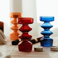 Стеклянный подсвечник для Tealight Europe Candlestick Home Украшение Главная Кристаллическая Столбар Стенд Свадьба Держатели Канделябры