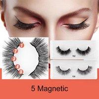 False Eyelashes 3D Magnetic Set Waterproof Lasting Eyeliner Magnet Makeup Extension Kit Custom Logo