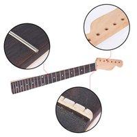 Cuello de guitarra eléctrica Canadá Maple 22 Frete Fretwood Fingerboard Bolt en forma C Clear Satin