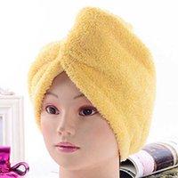 Fashion Salle de bain Produits 6 Couleur Soft Douche Cap Coiffeur à séchage rapide Microfibre Sèche Serviette confortable Grossiste
