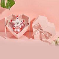 1pc 심장 모양의 선물 상자 크리 에이 티브 크리스마스 선물 케이스 캔디 발렌타인 데이 핑크 포장
