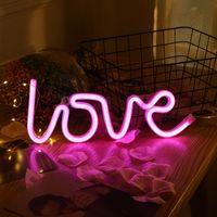 LED 네온 라이트 장난감 기호 편지 사랑 핑크 3000K 귀여운 야간 조명 크리 에이 티브 Birhthday 선물 사진 휴일 조명 결혼식 파티 바