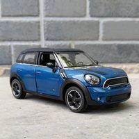 124 Oyuncak Araba Mini Countryman Diecast Alaşım Metal Araba Modeli Mini Coopers Modeli için Araba Çekin Araba Oyuncak Araçlar Minyatür Ölçek