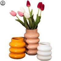 Бао Гуан Та творческий индивидуальность пончики керамики ваза современная гостиная обеденный стол цветка искусства домашнего декора горшок A3081 вазы