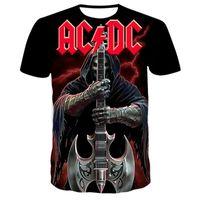 T-tröja Tshirts Män AC DC 3D Tryckt sommar varumärke Mäns mode stil t Funny Leisure Tshirt