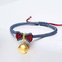 Ручной принцессы Bowtie Bracelets Jingle Bell Woven заплетенные дружбы браслет браслет мода ювелирные изделия T84A ссылка, цепь