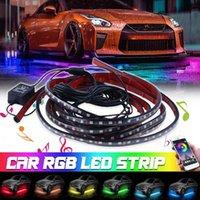 Interior&External Lights Car Underglow Light Flexible Strip LED Underbody APP Control Neon RGB Auto Decorative Atmosphere Lamp