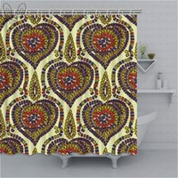 Colorful Moroccan Morocco Traditional Arabic Mosaic Abstract Alhambra Antique Arab Decor Shower Curtains Bathroom Curtain Sets