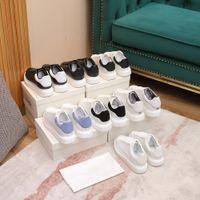 Designer de marca mulheres homens mostram estilos moda sapatos brancos couro genuíno por atacado sapato casual espadrille liso sneaker qualidade superior com caixa