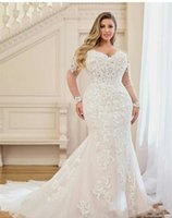Hot African Nigeria Mermaid Wedding Dresses Beaded Tiered Ruffles Court Train Custom Plus Size Formal Bridal Gowns
