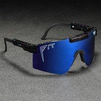 Fit Viper Drop Overdized Goggles Souffres de lunettes de soleil à coupe-vent Conduite d'une pièce Lentille Italie Design Shades Gafas de Sol