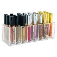 24/9 Gitter Acryl Lippenstift Organizer Tischverfassung Aufbewahrungsbox Nagellackhalter Kosmetikanzeige Rack Lip Gloss Container Boxen Bins