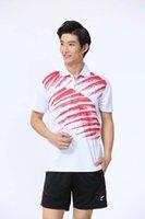 Badminton Wear Sets für Männer Weiß Rot Outdoor Apparel Athletic Set LN6001