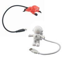 Luz nocturna USB LED Luces de lectura Creative Spaceman Astronauta Cuidado de los ojos Flexible Lámpara de computadora portátil Crestech DHL