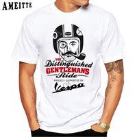 K8 T-shirt Vespa The Gentleman Clascic Oldschool Impression Summer Hommes Short Mouwen Vintage Tops Casual Tops Jeunes thés blancs
