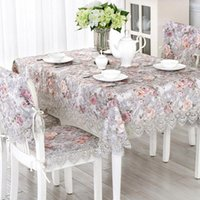Table Cloth Lace Fabric Tablecloth Coffee Chair Cover Mat Set European Countryside Runner
