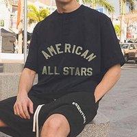7-я коллекция All Star Star Henley Tee седьмые футболки повседневная короткая рукава хлопчатобумажные футболки мужские женщины хип-хоп улица MG210033