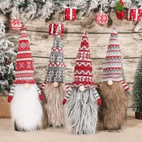 Newchristmas 와인 병 토퍼 커버 그놈 모자 장식 스웨덴어 Tomte 장식 크리스마스 파티 호의 소모품 GWB11186